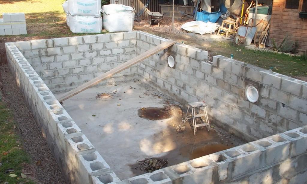 Строим бассейн на дачи