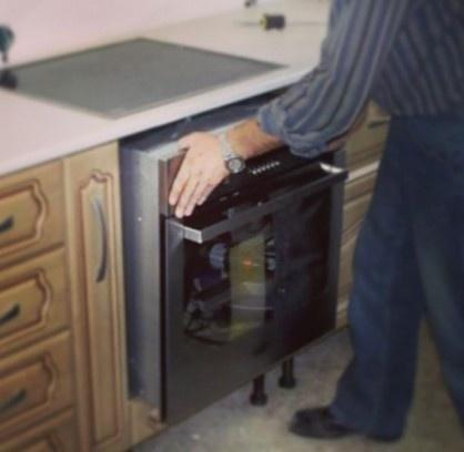 Духовой шкаф электрический установка видео