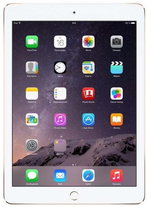 Apple iPad Air 2 Wi-Fi 16GB - Gold MH0W2RU/A фото