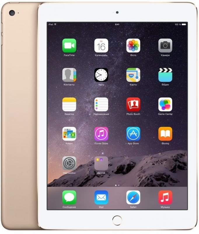 Apple iPad Air 2 Wi-Fi 16GB - Gold MH0W2RU/A фото №2
